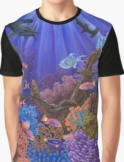 Underwater coral reef Graphic T-Shirt