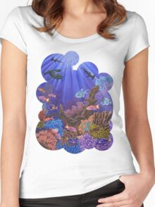 Underwater coral reef Women's Fitted Scoop T-Shirt