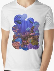 Underwater coral reef Mens V-Neck T-Shirt