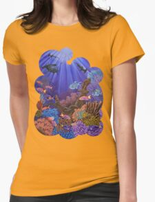 Underwater coral reef Womens Fitted T-Shirt