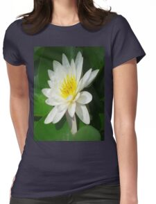 Water Lilly   Womens Fitted T-Shirt
