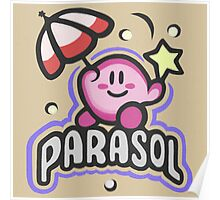 Kirby Parasol Poster