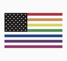 usa rainbow flag by chromatosis