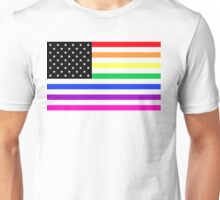 usa rainbow flag Unisex T-Shirt