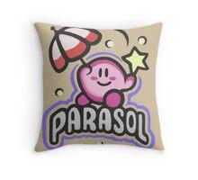 Kirby Parasol Throw Pillow