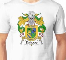 Delgado Coat of Arms/Family Crest Unisex T-Shirt