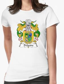 Delgado Coat of Arms/Family Crest Womens Fitted T-Shirt