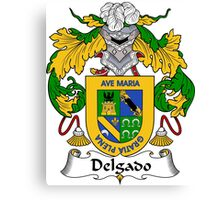 Delgado Coat of Arms/Family Crest Canvas Print