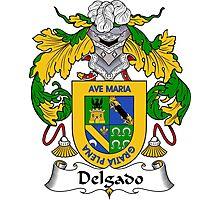 Delgado Coat of Arms/Family Crest Photographic Print