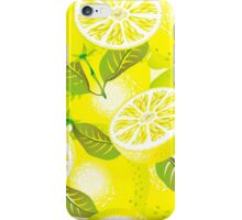 Lemon background iPhone Case/Skin