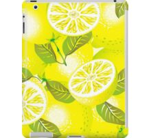 Lemon background iPad Case/Skin