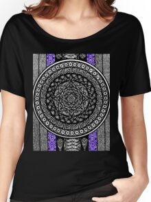 Mandala and Stripes Women's Relaxed Fit T-Shirt