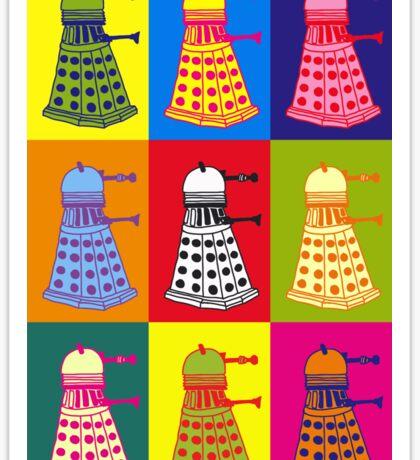 Andy Warhol Daleks Sticker