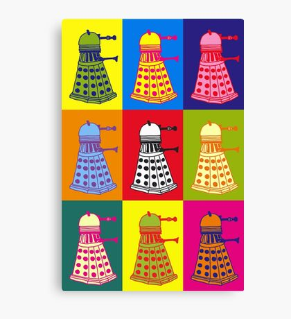 Andy Warhol Daleks Canvas Print