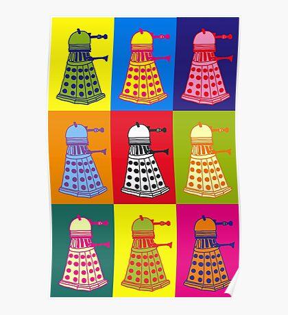 Andy Warhol Daleks Poster