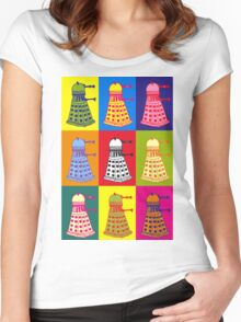 Andy Warhol Daleks Women's Fitted Scoop T-Shirt