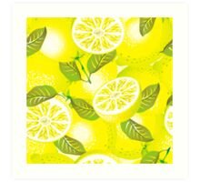 Lemon background Art Print