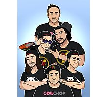 Cow Chop Group Photographic Print