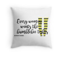 The Bumblebee Tights  Me Before You- Jojo Moyes Throw Pillow