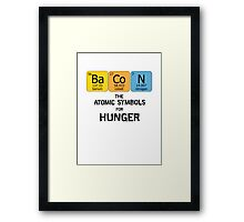 Atomic Symbol for Hunger Framed Print