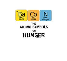 Atomic Symbol for Hunger Photographic Print