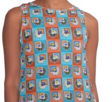 Daisies (Orange and Blue) Contrast Tank
