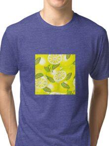 Lemon background Tri-blend T-Shirt