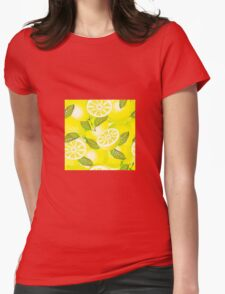 Lemon background Womens Fitted T-Shirt