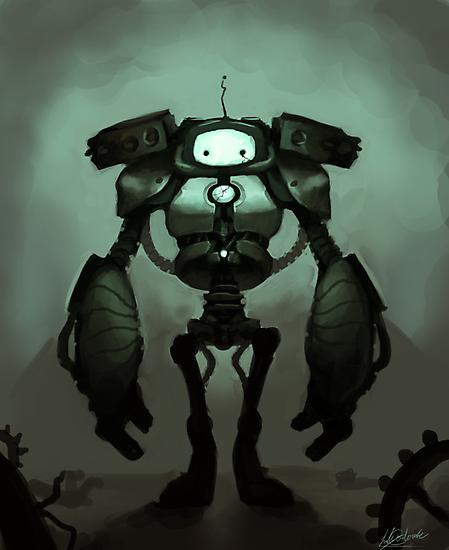 Sad Robot by Ondinel