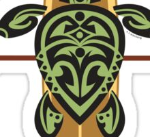 Black & Green Tribal Turtle Stand-Up Wave Rider / Grand Cayman Sticker