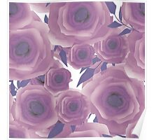 Seamless textile design Roses. Poster