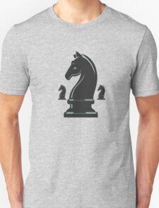Black Velvet Knight Chess Piece Unisex T-Shirt