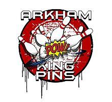 Arkham King Pins - Bowling Team T-shirt Photographic Print