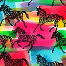 Horse Stampede by Andi Bird
