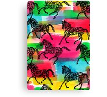 Horse Stampede Canvas Print