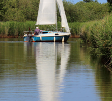 Sailing on the Norfolk Broads Sticker