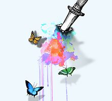 Bleed Rainbow & Butterflies by Nidya