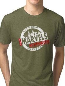 Melbourne Marvel Supporters Range white  Tri-blend T-Shirt