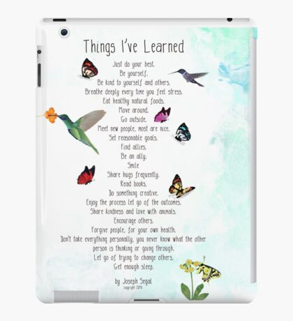 Things I've Learned iPad Case/Skin