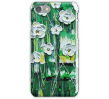 Emerald Rain Blossoms iPhone Case/Skin