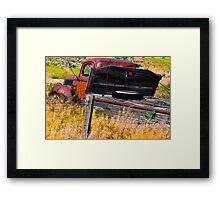 Old abandoned flatbed truck Framed Print