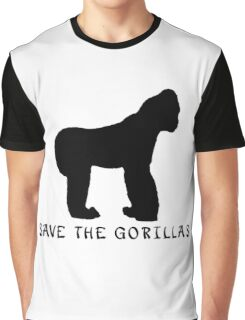 Save the Gorillas! .  Graphic T-Shirt