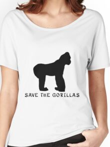Save the Gorillas! .  Women's Relaxed Fit T-Shirt
