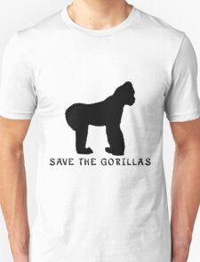 Save the Gorillas! .  Unisex T-Shirt