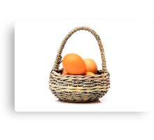 eggs in one basket Canvas Print