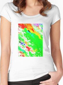 Glitchin' Green Women's Fitted Scoop T-Shirt
