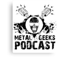 Metal Geeks Podcast - Zombie design Canvas Print