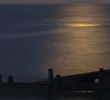 Moonlight on the North Sea Sticker