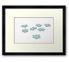 jigsaw pieces Framed Print