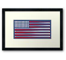 Baseball Flag Framed Print